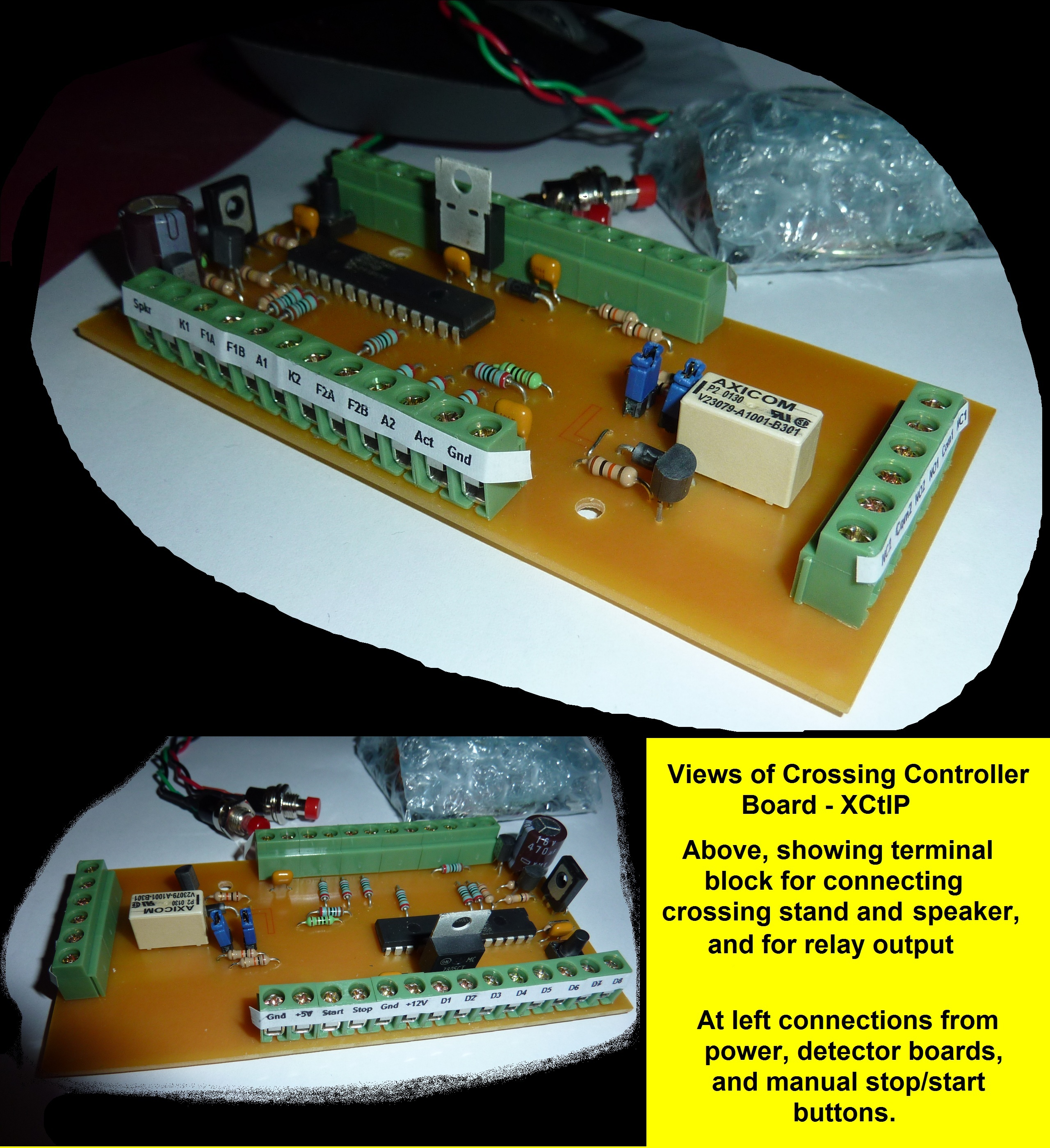 Railway Crossing Control With Flash And Ding Model Railroad Flashing Light Circuit 1 Click Here For Larger Image Of Above